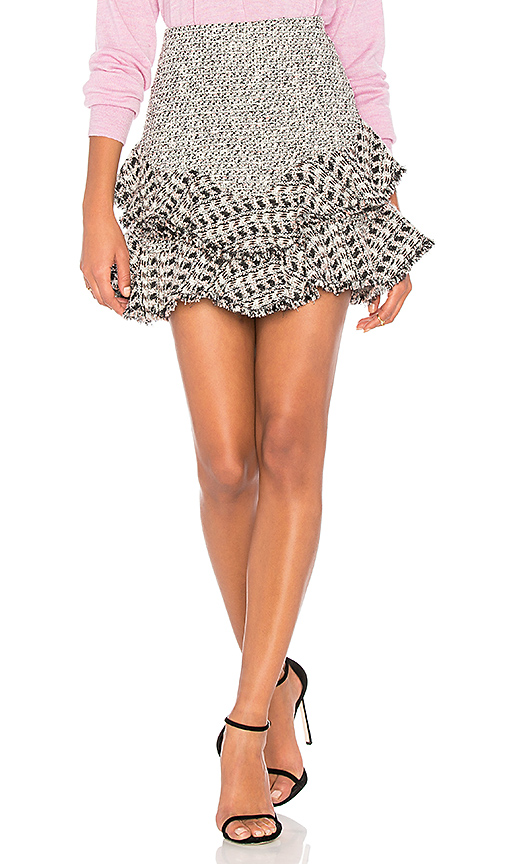 Rebecca Taylor Mixed Tweed Skirt in Black. - size 0 (also in 2,4,6)