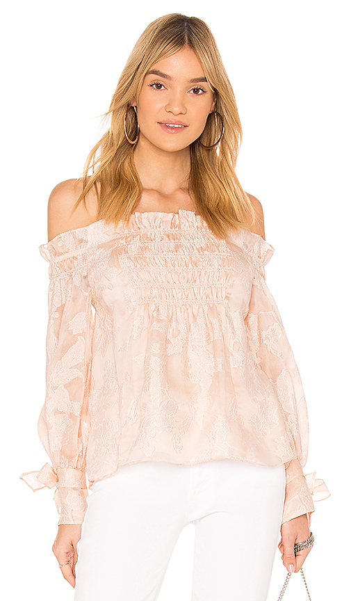 Rebecca Taylor Off the Shoulder Top in White