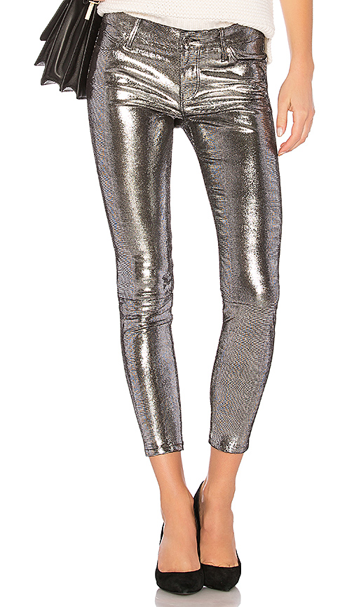 RtA Prince Pant in Metallic Silver. - size 26 (also in 25,27,28)