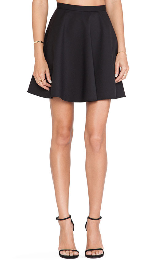 Red Valentino Circle Skirt in Black