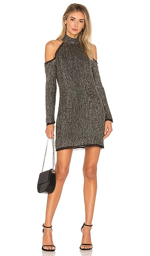 RACHEL ZOE Kipling Mini Dress in Metallic Silver