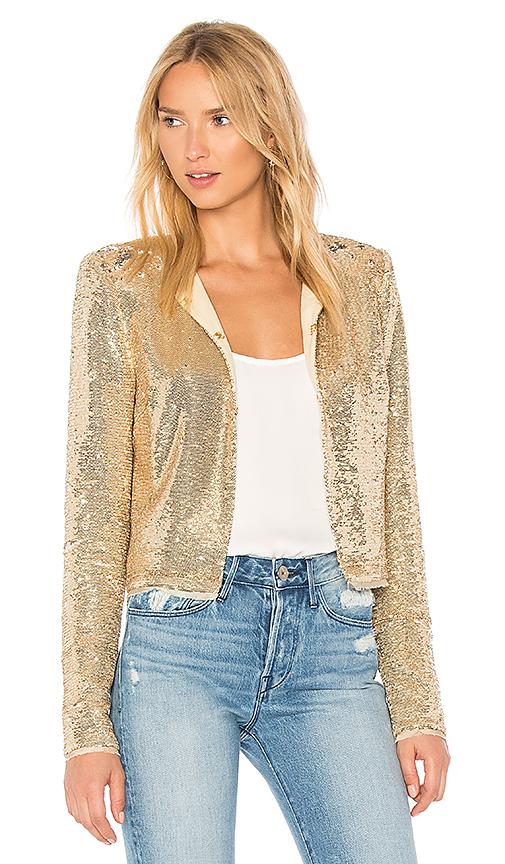 RACHEL ZOE Dolly Jacket in Metallic Gold