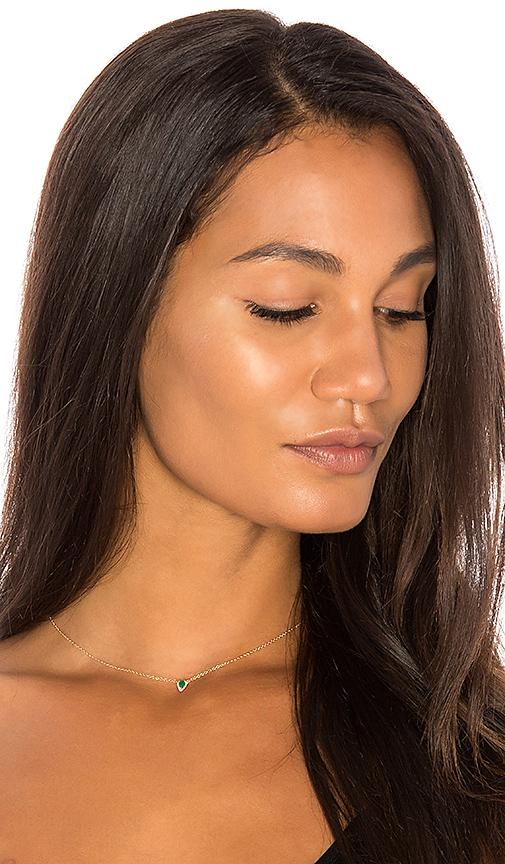 Sachi x REVOLVE Emerald Pear Necklace in Metallic Gold