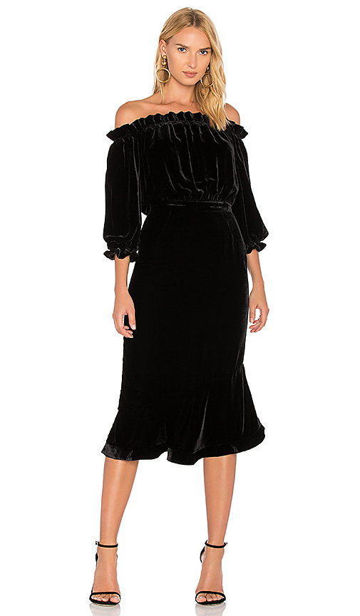 SALONI Grace Dress in Black