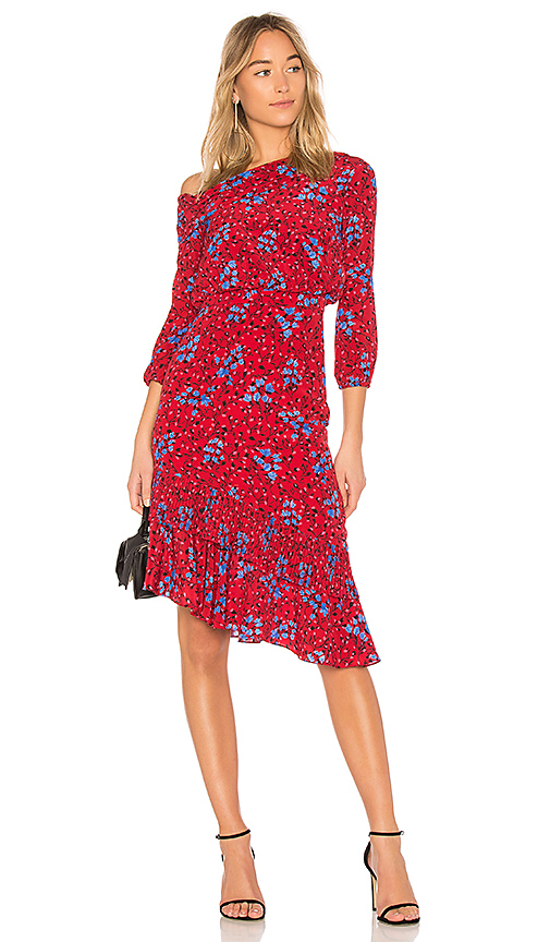 SALONI Lexie Dress in Red