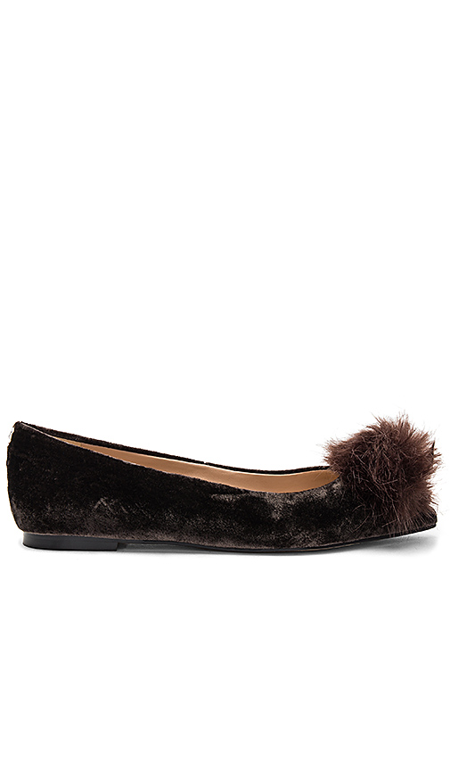 Sam Edelman Raddie Faux Fur Flat in Brown