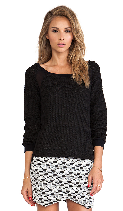 Sanctuary Mix & Match Sweater in Black
