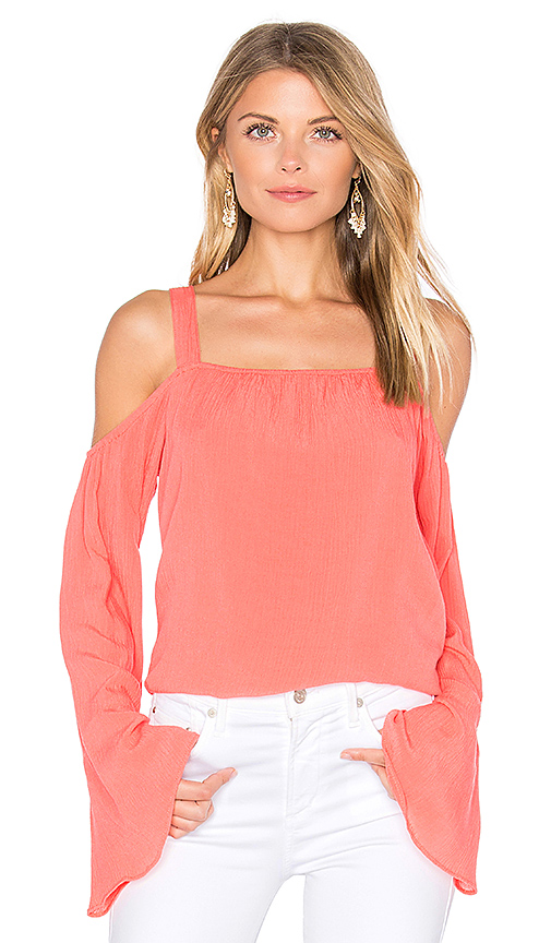 Sanctuary Melody Bare Shoulder Top in Pink