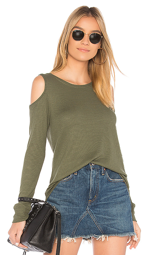 Sanctuary Bowery Thermal Tee in Green