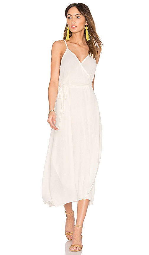 SAM & LAVI Wrap Dress in White. - size L (also in M,S,XS)