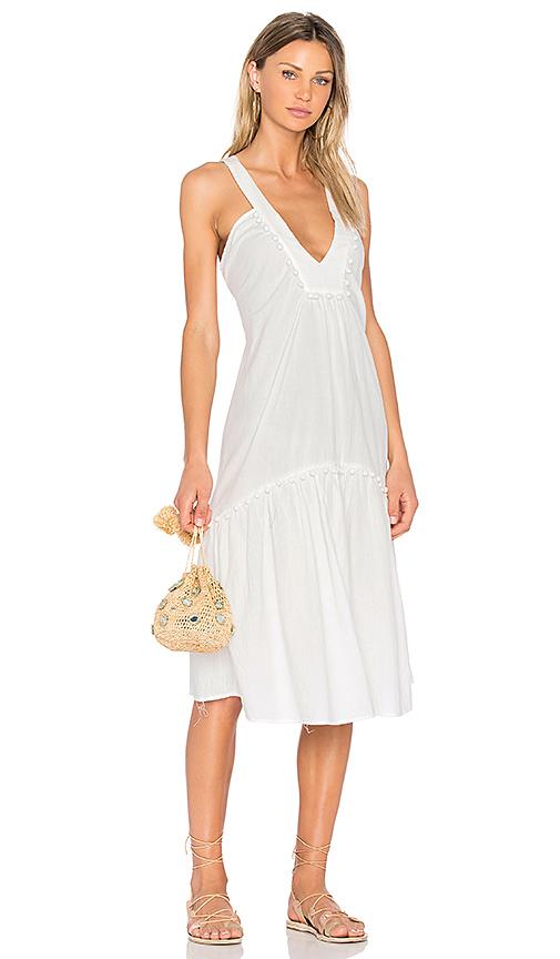 SAM & LAVI Beca Dress in White