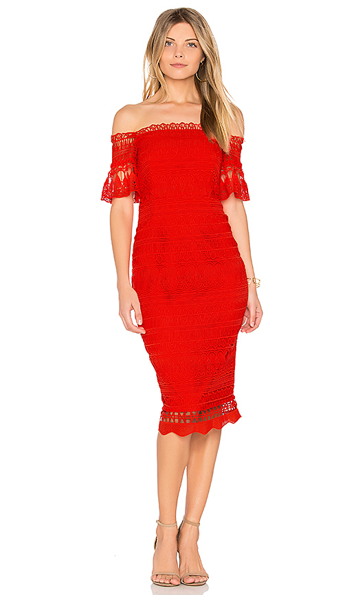 SAYLOR Mariah Dress in Red. - size S (also in XS)