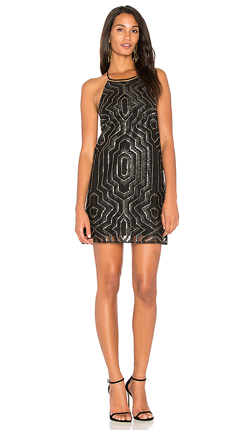 SAYLOR Cal Embellished Mini Dress in Black