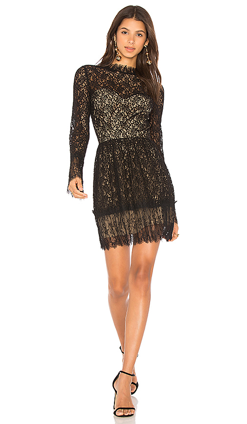 SAYLOR Amity Lace Dress in Black