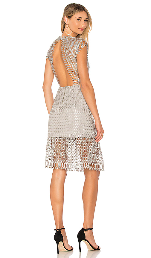 SAYLOR Breonne Dress in Metallic Silver