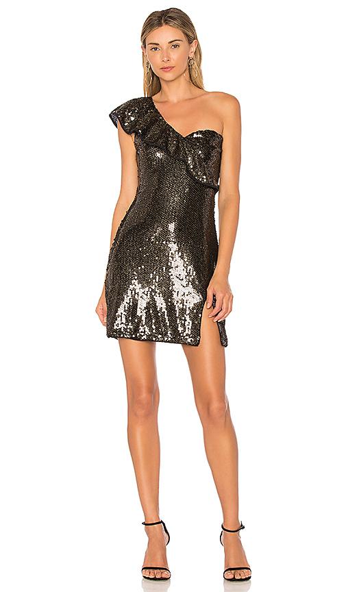 SAYLOR Gracie Dress in Metallic Gold