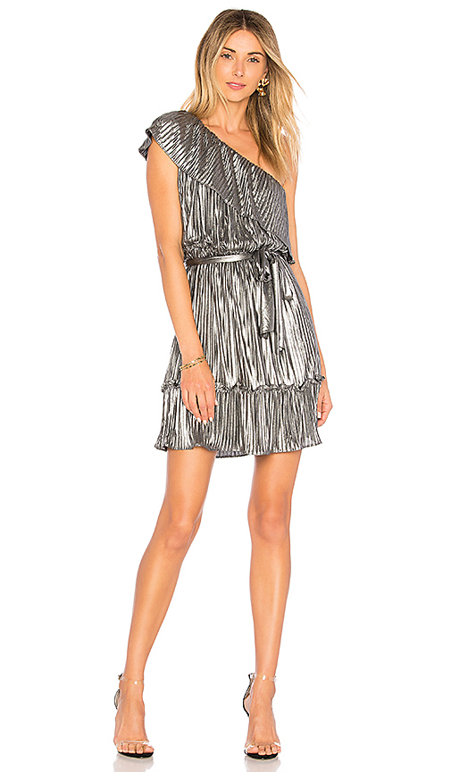 SAYLOR Diana Dress in Metallic Silver