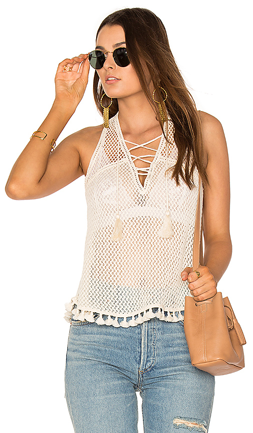 SAYLOR Kendra Top in White