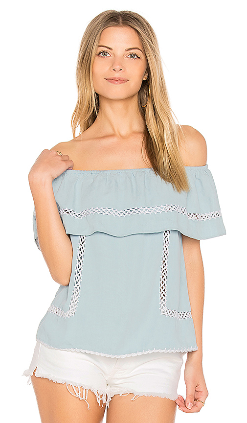 SAYLOR Joelle Top in Slate