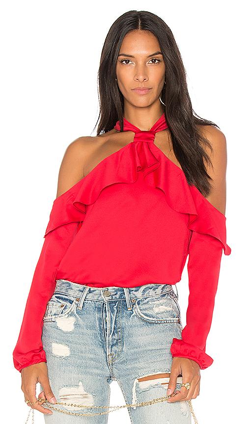 SAYLOR West Cold Shoulder Blouse in Red