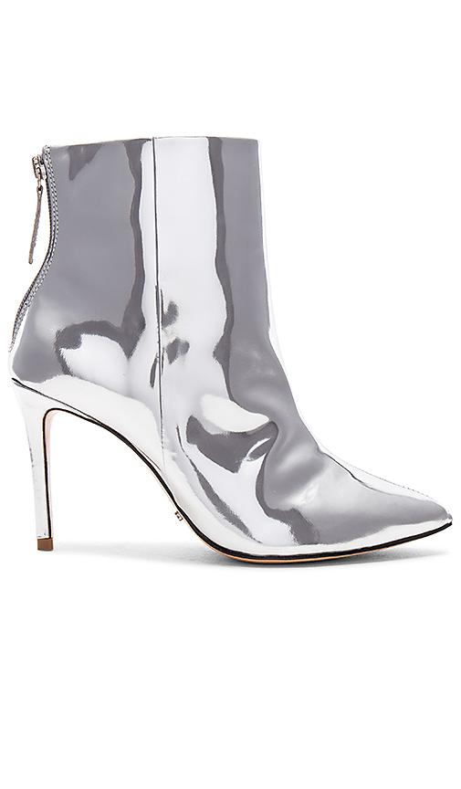 Schutz Ginny Bootie in Metallic Silver