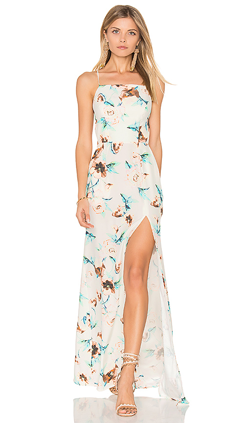 STONE COLD FOX Moss Gown in White