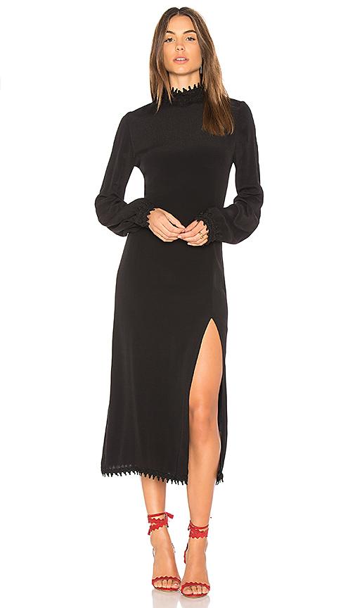 STONE COLD FOX Hemingway Dress in Black