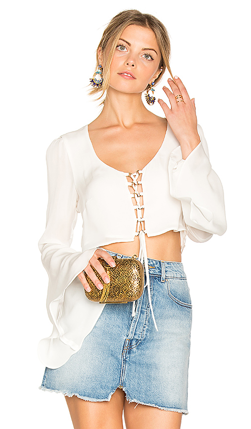 STONE COLD FOX Russel Blouse in White