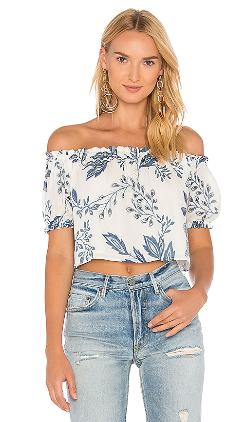 STONE COLD FOX Riley Crop in White