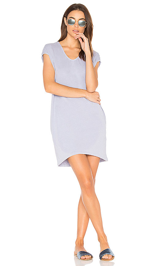 SUNDRY Tunic Pocket Dress in Gray