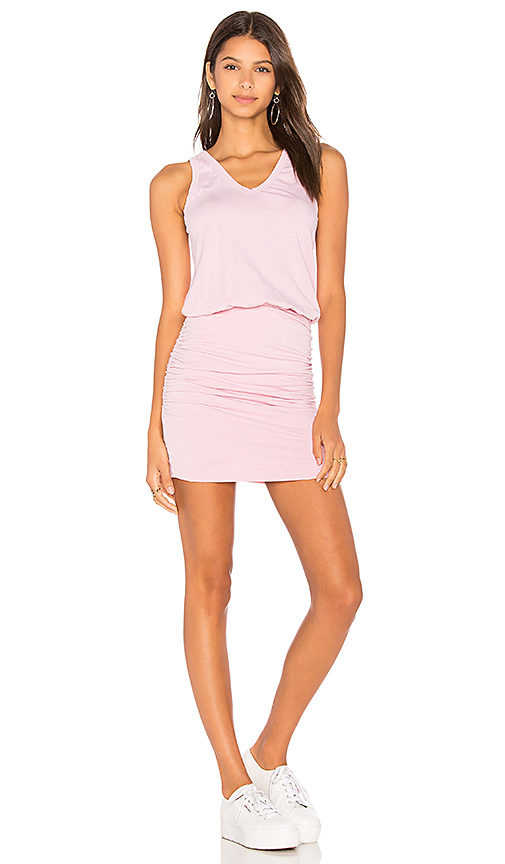 SUNDRY U Neck Dress in Pink