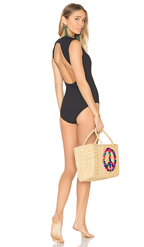 Seafolly Cap Sleeve One Piece in Black