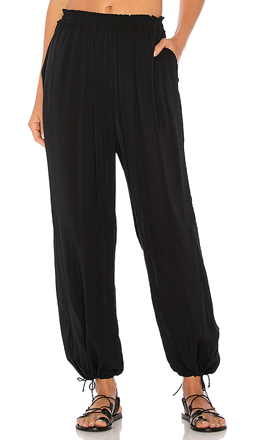 Seafolly Voile Jeanie Pant in Black
