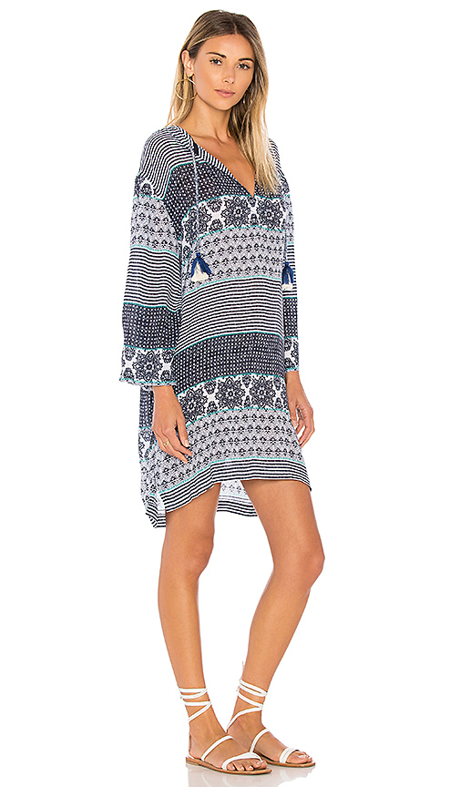 Seafolly Spliced Hooded Dress in Blue