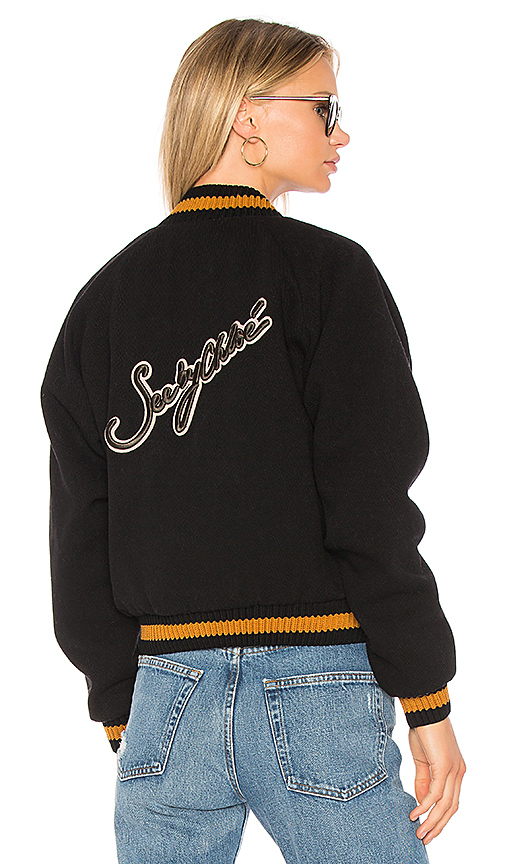 See By Chloe Bomber With Contrast Trim in Black