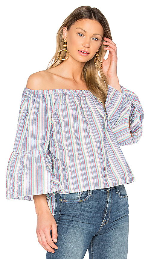 Photo of See By Chloe Off the Shoulder Top in Blue - shop See By Chloe tops sales