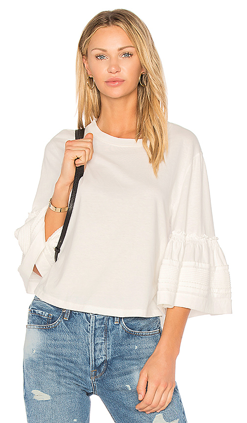 See By Chloe Embellished Sleeve Top in White