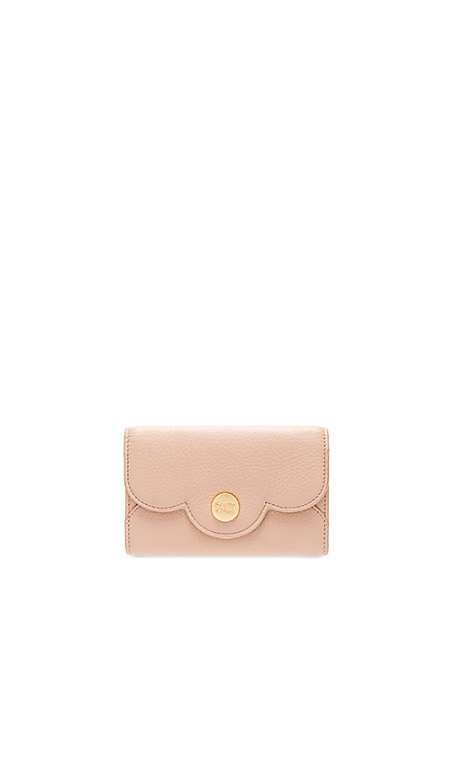 See By Chloe Polina Compact Wallet in Beige
