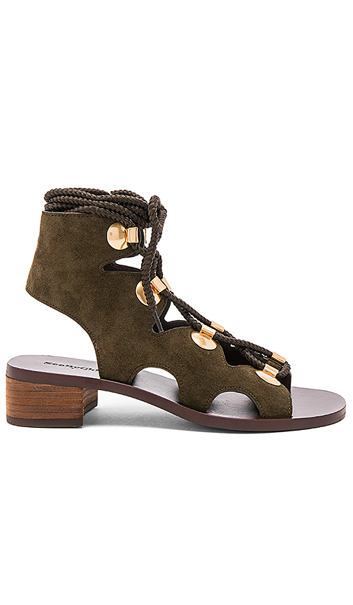 See By Chloe Edna Sandal in Army
