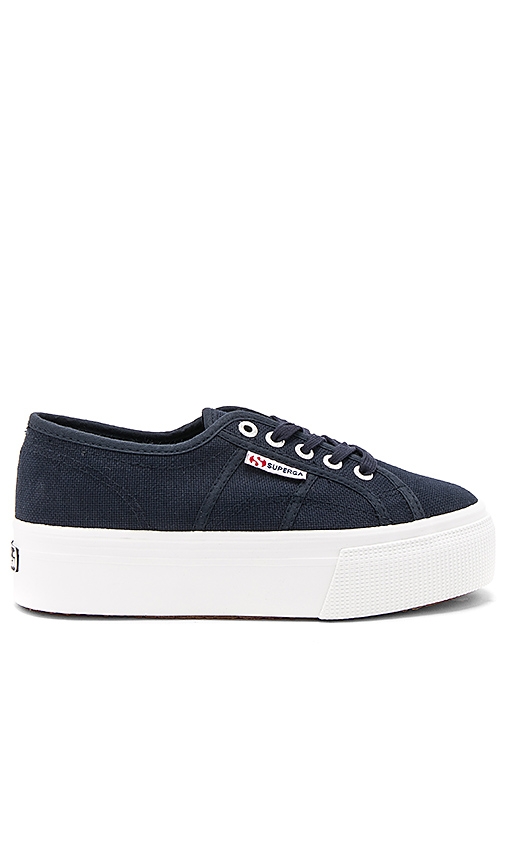 Superga 2790 Platform Sneaker in Navy