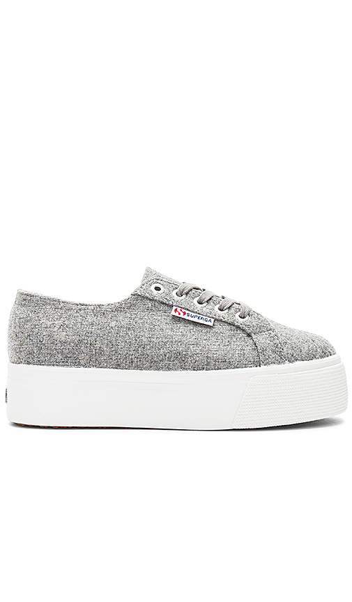 Superga 2790 Polywool Platform Sneaker in Gray