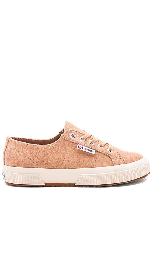 Superga 2750 Suede Sneaker in Tan