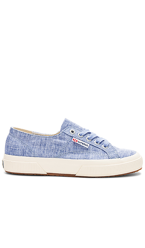 Superga 2750 Fabric Shirt Sneaker in Blue