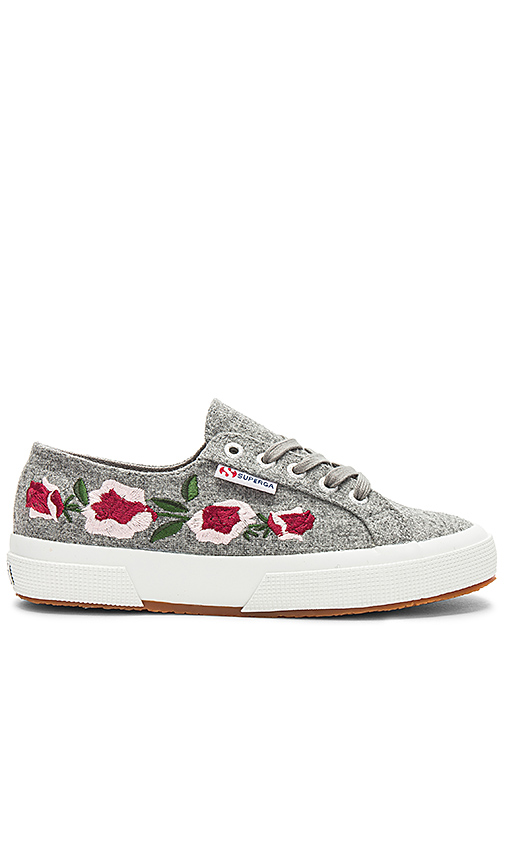 Superga 2750 Embroidery Sneaker in Gray