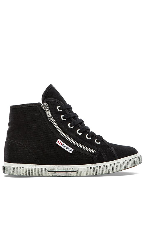 Superga Cotu High Top in Black