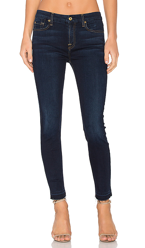 7 For All Mankind The Ankle Released Hem Skinny. - size 26 (also in 24,27,28,29,30)