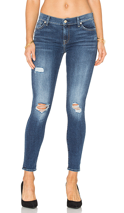 7 For All Mankind The Distressed Ankle Skinny. - size 25 (also in 24,27)