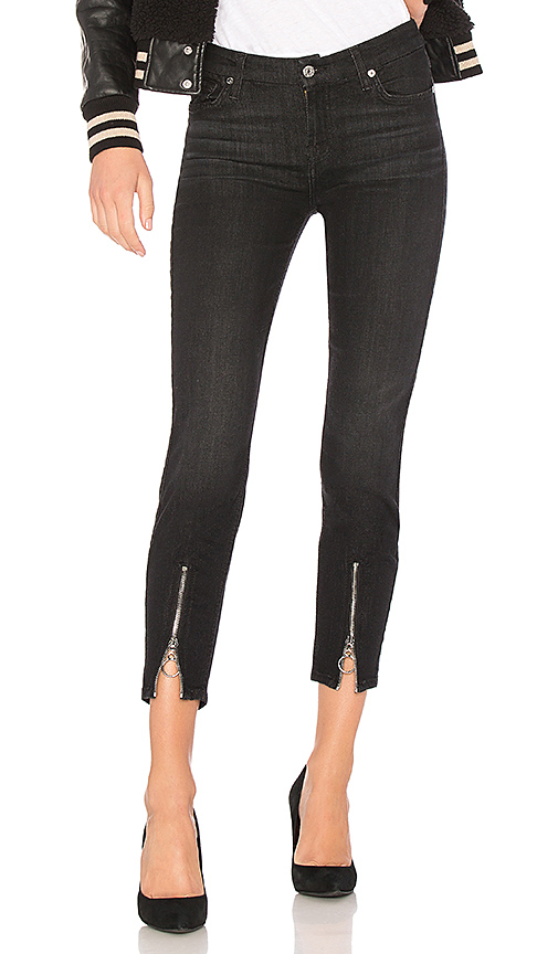 7 For All Mankind Roxanne Ankle With Front Zips. - size 24 (also in 25,26,27,28,29,30)
