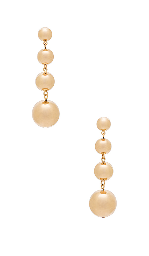 SHASHI Marissa Earrings in Metallic Gold