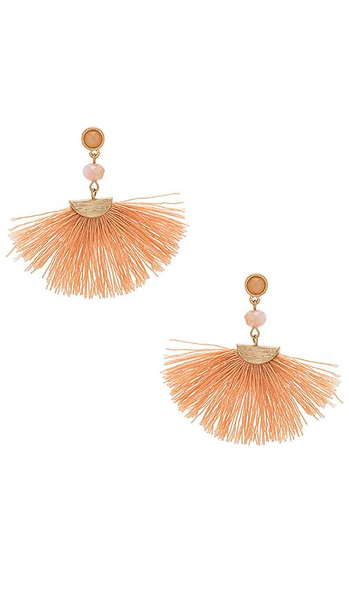 SHASHI Mia Tassel Earrings in Metallic Gold
